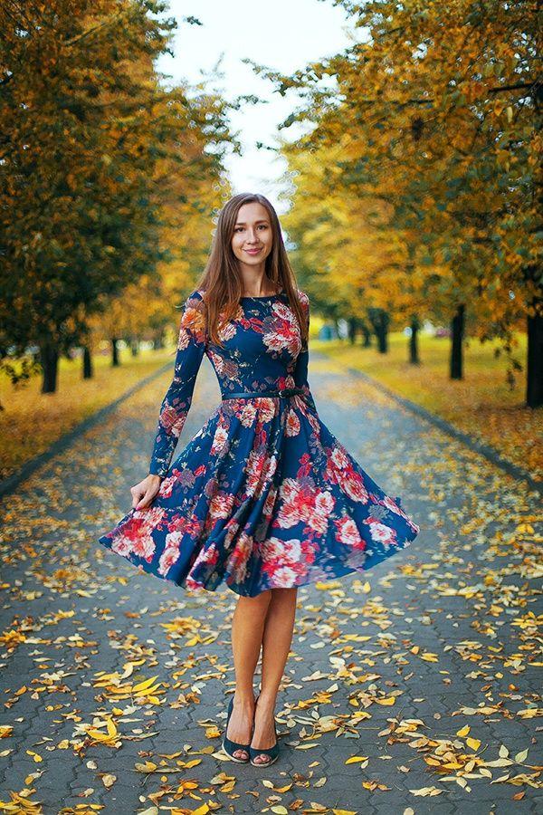 Modest Floral Formal Dress