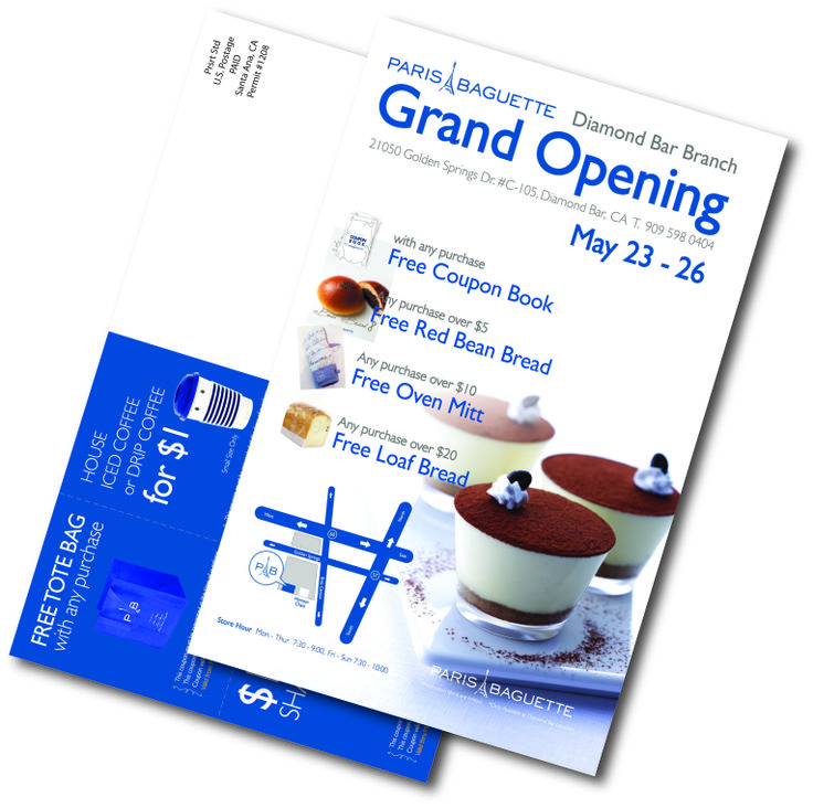 Congratulations on a successful grand opening!! Paris Baguette had a 5% response rate from postcard mailing! #directmail #directmailworks