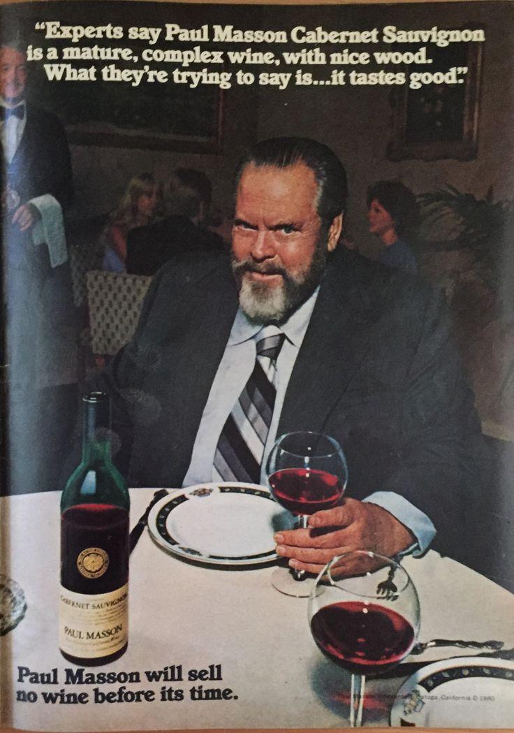 Orson Welles Paul Mason wine ad
