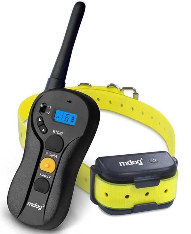 MDOG2 MD2-610 660 Yard Rechargeable Waterproof Blind Operation Shock Remote Training Collar with Separate Shock, Vibration, and Breed Buttons