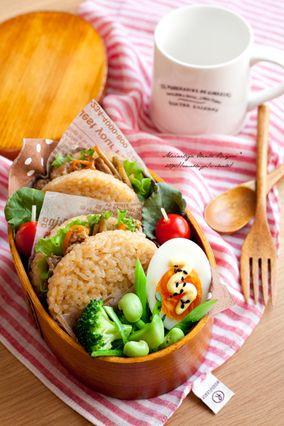 キンピラごぼう♪ライスバーガーのお弁当。|レシピブログ