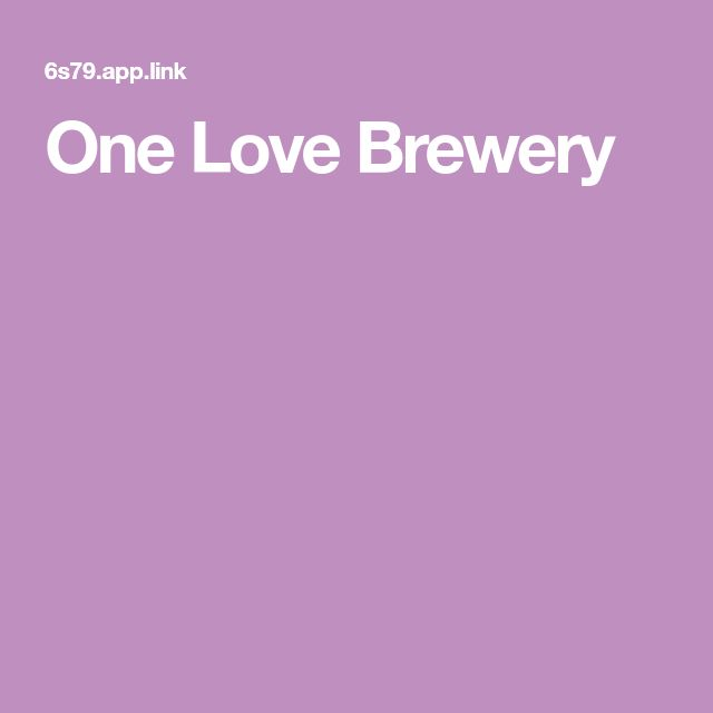 One Love Brewery - does German style brews