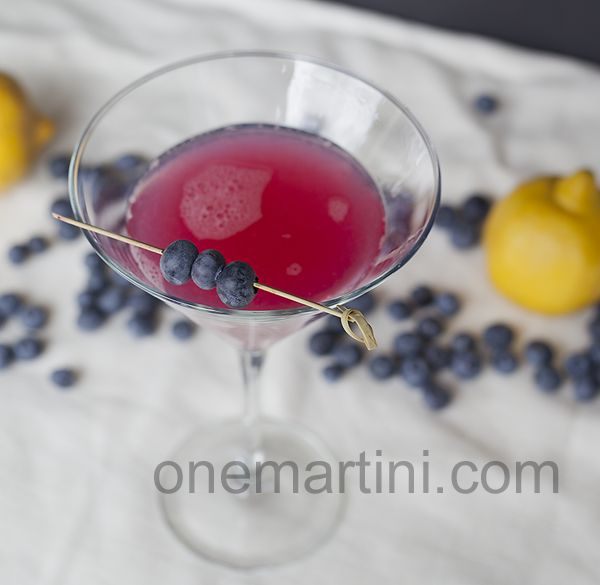 blueberry lemon martini
