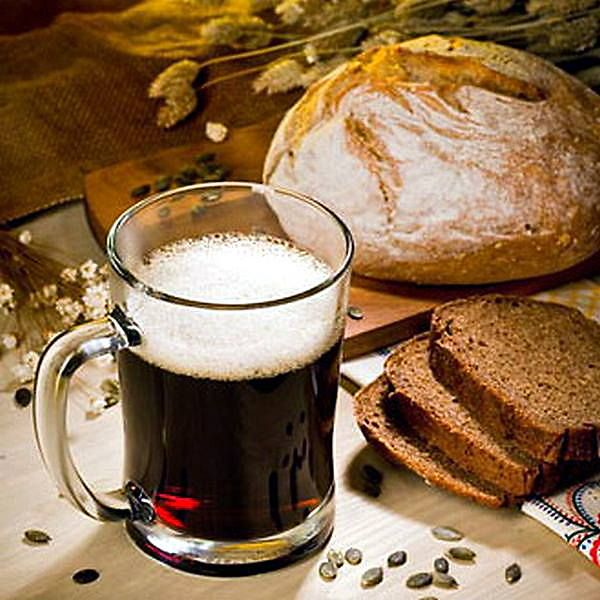 Kvass is a fermented beverage made from black or regular rye bread