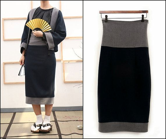 Ofelya Original Handmade Design Kimono Skirt Retro Ethnic Style Embroidery Black Obi 111 usd etsy
