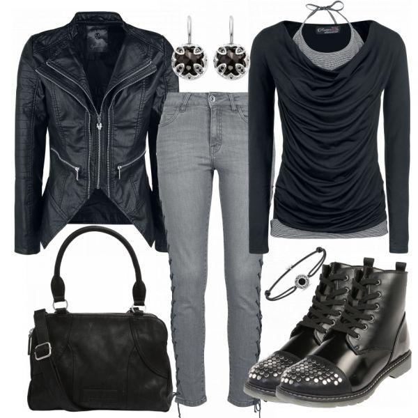 RockGirl Damen Outfit - Komplettes Freizeit Outfit günstig kaufen | FrauenOutfits.de