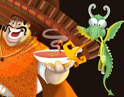 """Check out new work on my @Behance portfolio: """"Dragon & Mexican"""" http://be.net/gallery/33906968/Dragon-Mexican"""