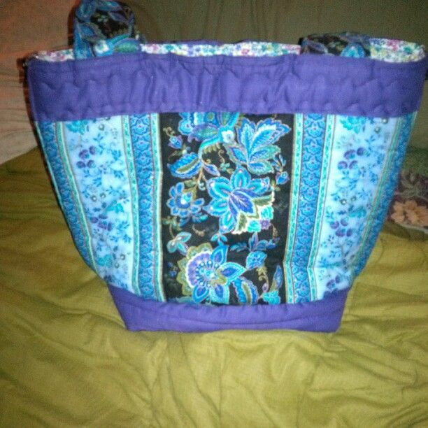 Quilted purse i made.