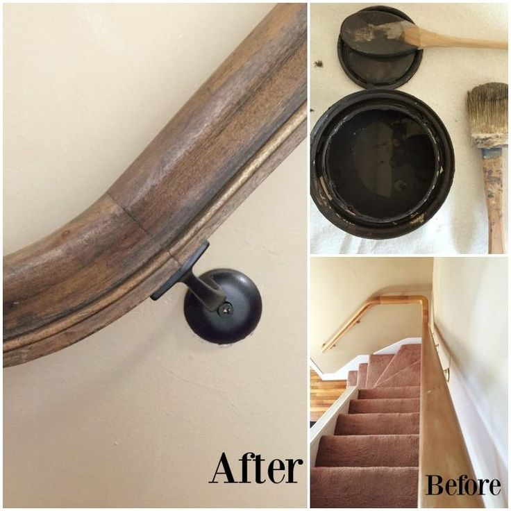 "'Stain' your wood railing with Chalk Paint® by Annie Sloan? YES. This unexpected surface gets a stylish makeover by Abigail of Patina & Purl, Blog and Etsy Shop. Graphite was used to color wash the drab wood which was finished with Soft Dark Wax to protect and deepen the color. She says, ""The best part: zero prep work. It cut down on time, money, and yucky stain smells."""