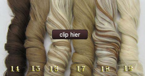 Synthetisch haar niet van echt te onderscheiden. 59 kleuren met krul en vele straight hair extensions. 5 clip in of maak je eigen flip in.