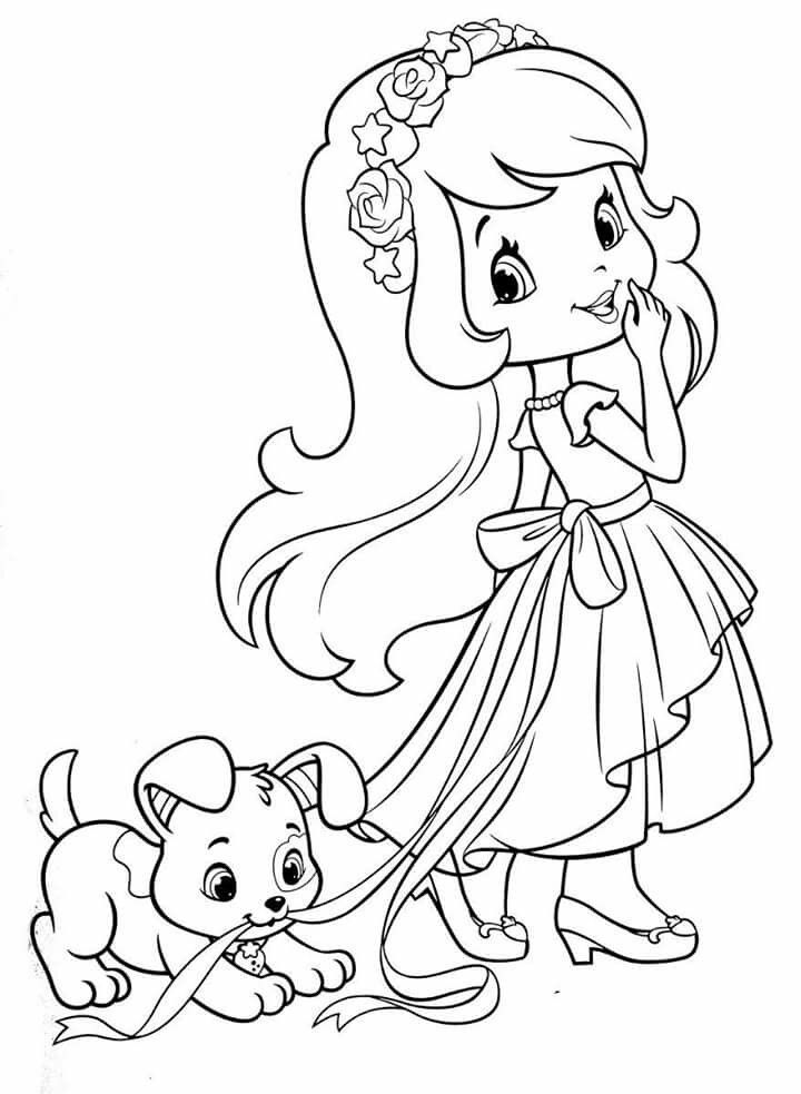 shortcake coloring pages colorful drawings animal
