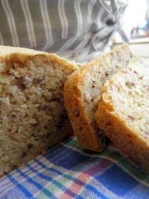 czarnapoprzeczka: Chleb jaglany z kokosem, siemieniem lnianym i mączką migdałową