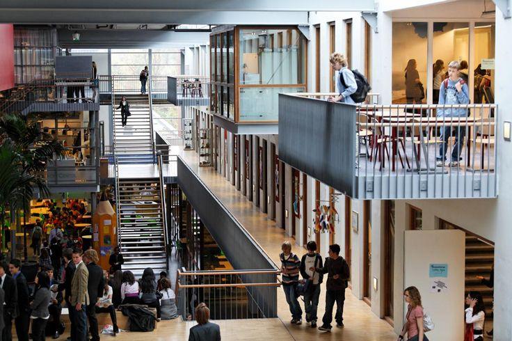 International School Balconies in the Plaza Architecture