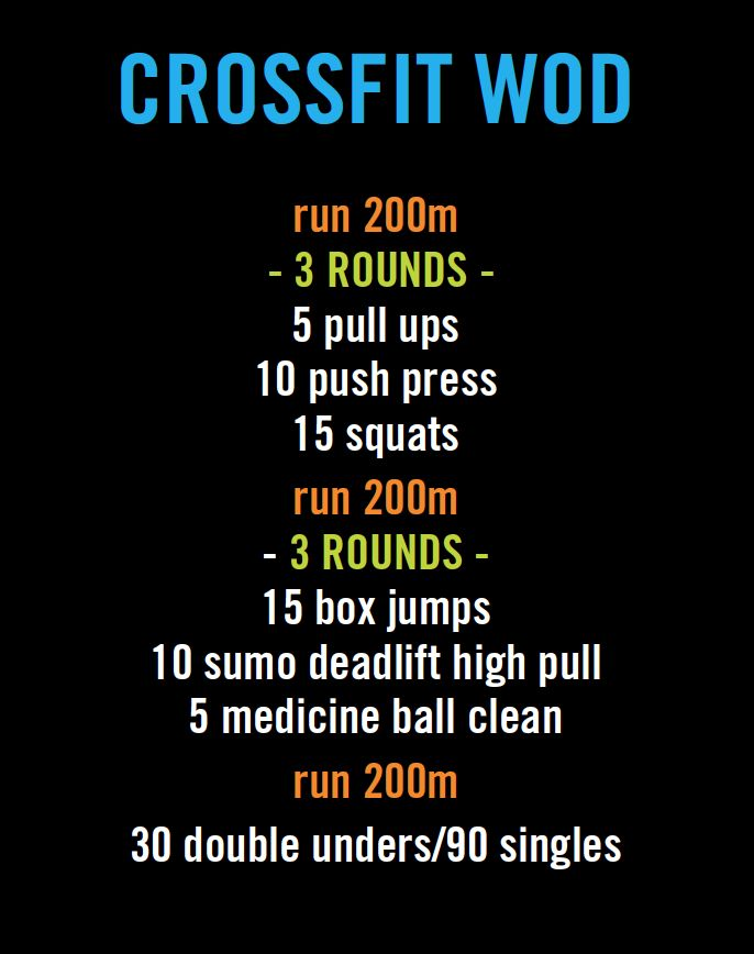 crossfit workout (WOD). Personal time: 16:36