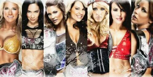 Kellykelly AJ Lee Eve Torres Kaitlyn Michelle McCool Layla El & Mickie James are all former WWE Divas