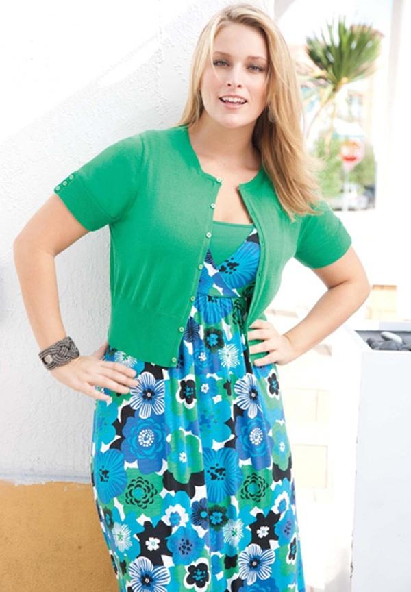 Trendy plus size modest dresses