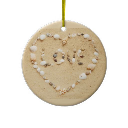 #habitatpintowin Seashell Love Heart Ornaments
