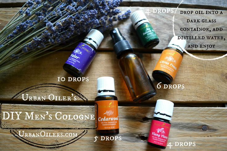 DIY Essential Oil Men's Cologne