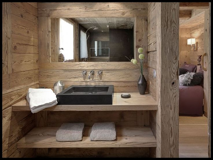 Modern and Masculine Cabin or Lodge Bathroom, Location Chalet 69251 La Clusaz Plus