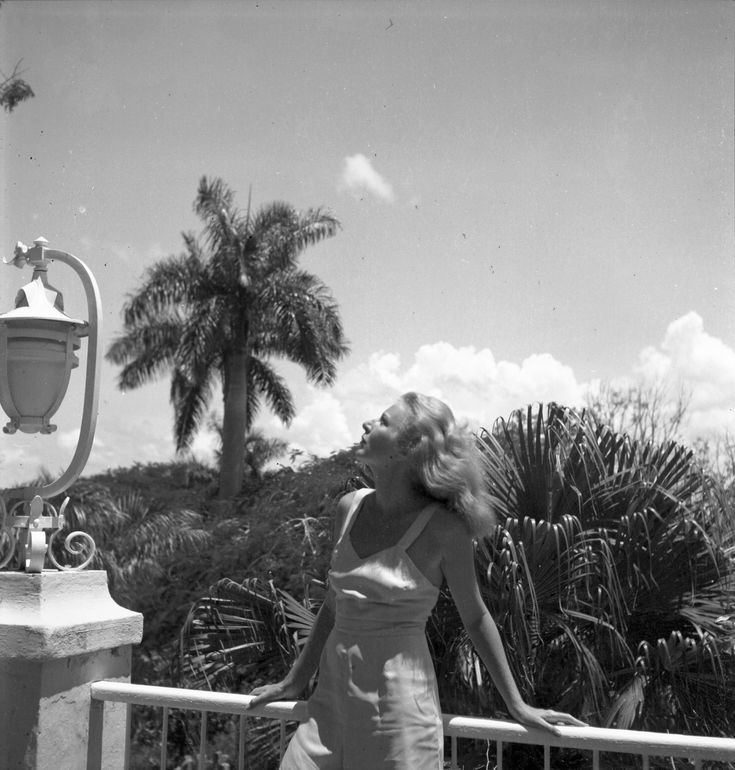 """EH999N   c. 1940 Portrait photo of Martha Gellhorn at the Finca Vigia, c. 1940.  Photograph in the Ernest Hemingway Collection of the John F. Kennedy Presidential Library and Museum, Boston.  Scanned from original 2.5"""" x 2.25"""" nitrate negative by LAA DAMS 2B"""