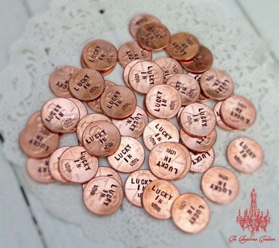 Lucky In Love Pennies 50 Custom Wedding by AngelorianTradition, $35.00