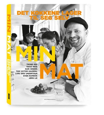 The book 'Min Mat – det kokkene lager til seg selv' features some of Norways top chefs (bla. Tom Victor Gausdal, Kari Innerå og Trond Moi) and what they make when they are cooking for their friends and family.