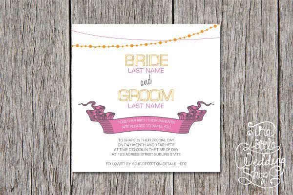 Orange Pink & Grey Modern Wedding by TheLittleWeddingShop on Etsy, $20.00