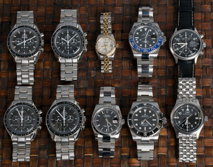 4 Omega Speedmasters and 4 Rolex watches have been posted. For those who appreciate the pilot style, check out the Sinn and IWC.