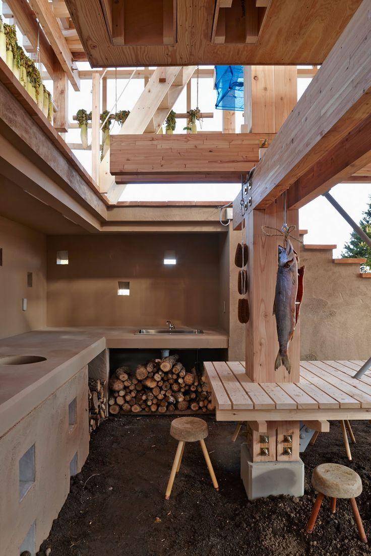 Nest We Grow | College of Environmental Design UC Berkeley + Kengo Kuma & Associates | image © Shinkenchiku-sha