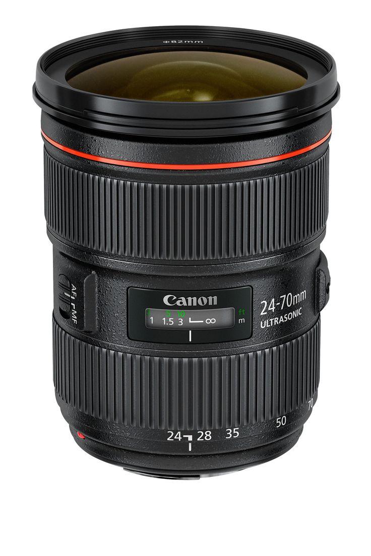 Canon, tre nuovi obiettivi professionali  Si tratta dell'EF 24-70mm f/2,8L II USM, aggiornamento del popolare EF 24-70mm f/2,8L USM, mentre i nuovi EF 24mm f/2,8 IS USM e EF 28mm f/2,8 IS USM sono i primi grandangolari al mondo a essere dotati di stabilizzatore ottico d'immagine (IS)