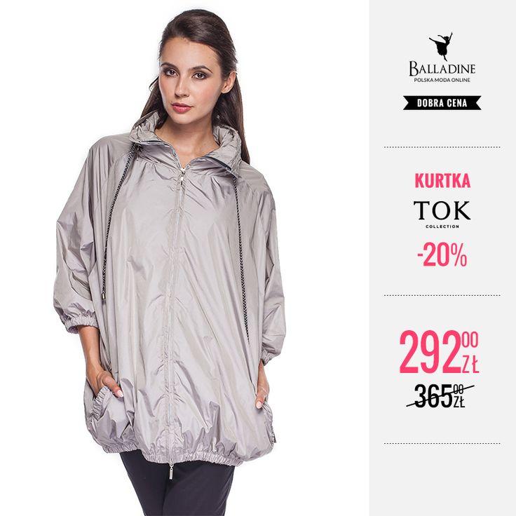 Szara kurtka marki TOK Collection to świetne rozwiązanie na deszczowe dni. Ochroni Was przed wiatrem i posiada praktyczny kaptur, który można schować w wysokiej stójce. Teraz kupicie ją z 20% zniżką!  >>http://goo.gl/l53emh