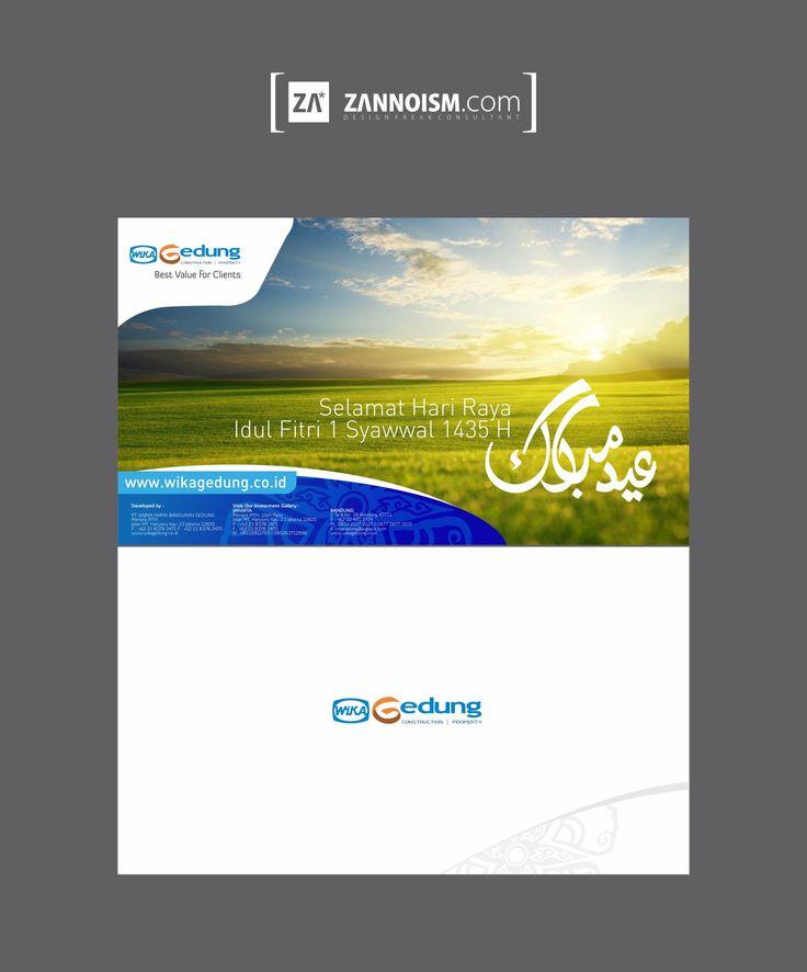 Desain Kartu Ucapan Idul Fitri / Lebaran 1435 untuk Wika ...