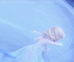I CANT! ELSA GIF. So sad that it came from her heart and still hit Anna