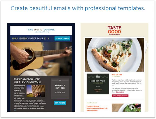 Constant Contact email marketing templates
