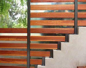 modern fencing, fence, translucent, steel, wood, fiberglass