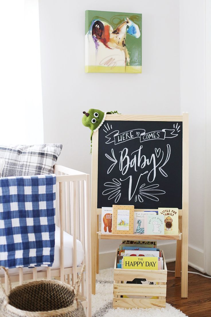 Superbe Welcome Baby Chalkboard Sign
