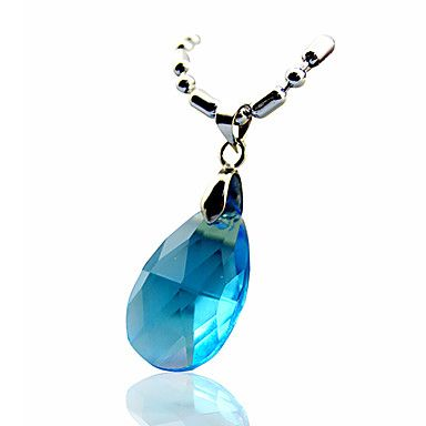 Sword+Art+Online+Asuna+Yuuki+blue+Crystal+Alloy+Chain+Cosplay+Necklace+–+USD+$+4.99