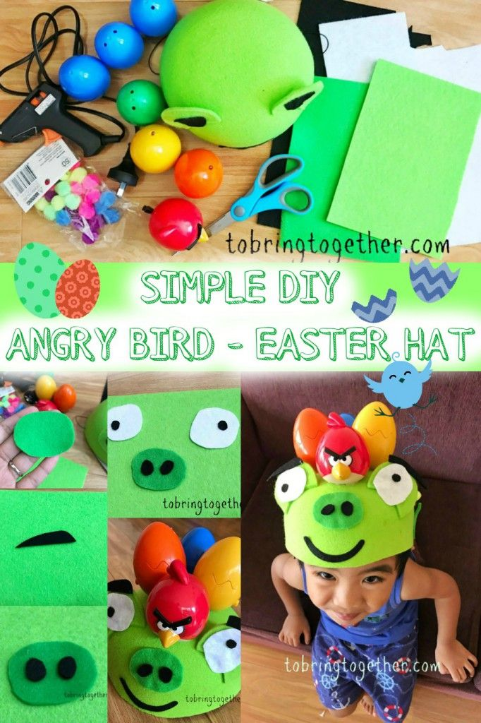 Simple DIY Angry Birds Easter Hat ;)
