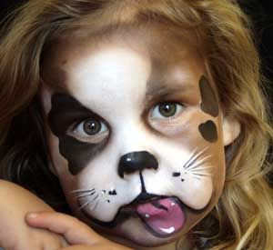 adorable doggy face paint