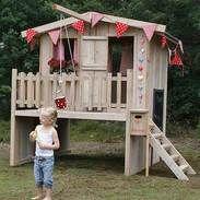 steigerhouten speelhuisjes: tuinspeelhuisje veranda