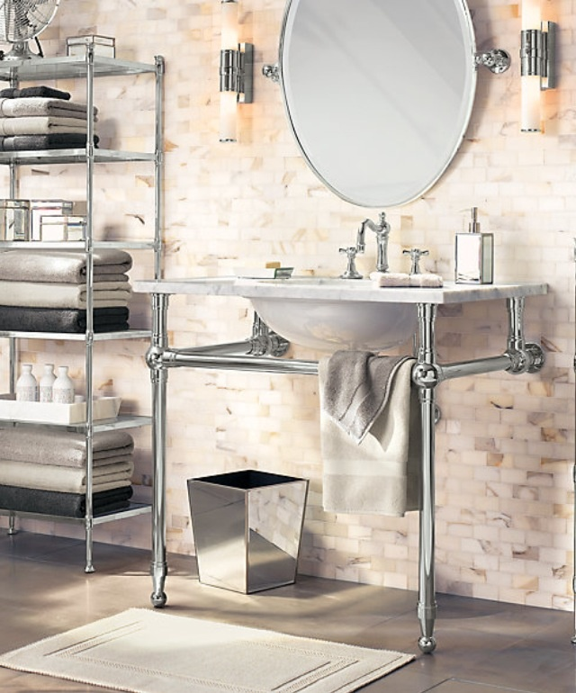 Gramercy Metal Washstand Restoration Hardware 3 Bathroom Ideas Pinterest And