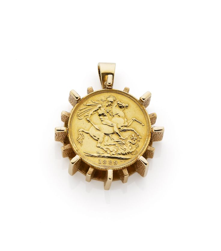 A Peter Minturn heavy gold sovereign pendant - Webb's | Find Lots Online