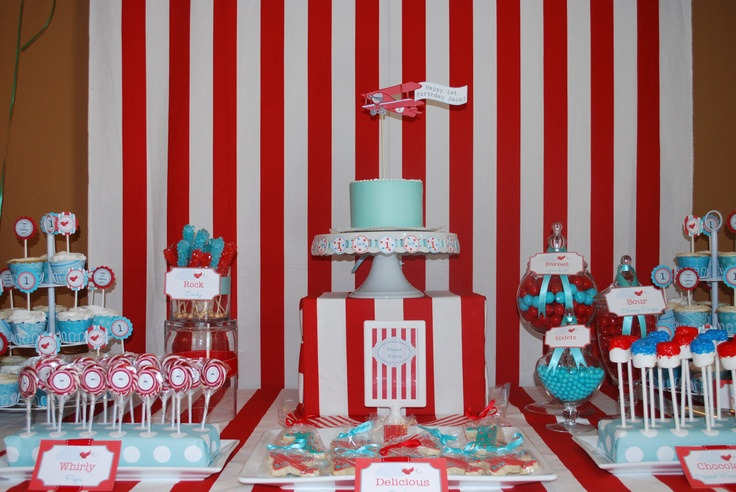Vintage Airplane Birthday Party Decorations DIY PRINTABLE Party