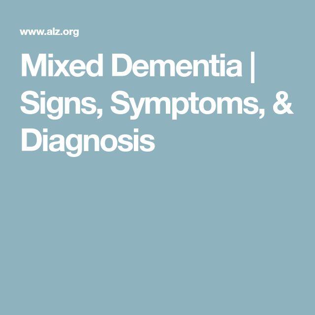 Mixed Dementia | Signs, Symptoms, & Diagnosis