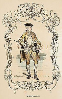 """Challamel's """"Les Francais"""" - 'LE CADET - H/C Litho - c1855"""