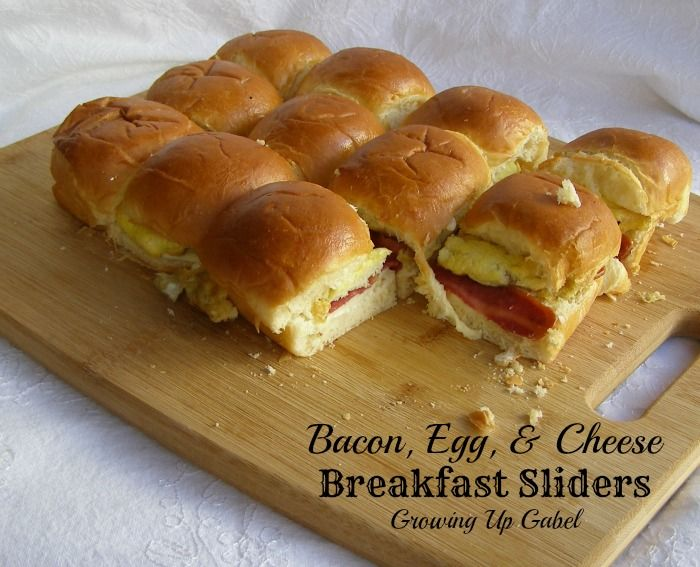Bacon, Cheese, Egg Breakfast Sliders.