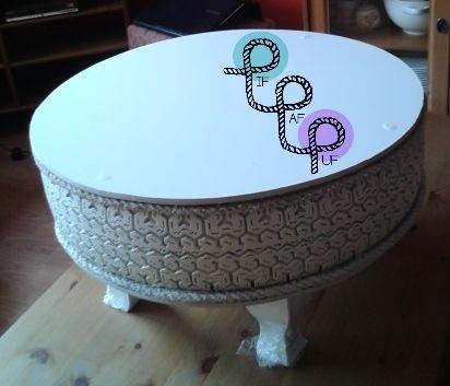 Stolik zrobiony ręcznie z opony // Handmade table from tire  You can order it at/Można zamówić na: www.facebook.com/pif.paf.puf.gliwice