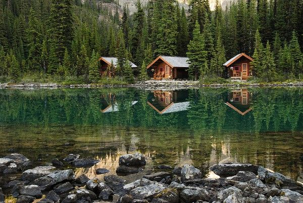 #log cabin #lake #cabin