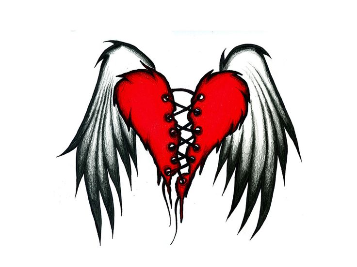 22 best Brokeing Heart Tattoo Simple images on Pinterest | Heart ...
