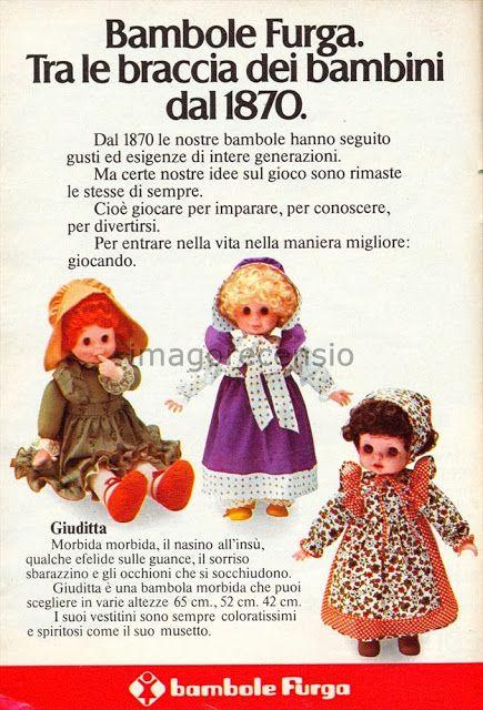 Giuditta Furga pubblicità catalogo Natale 1977